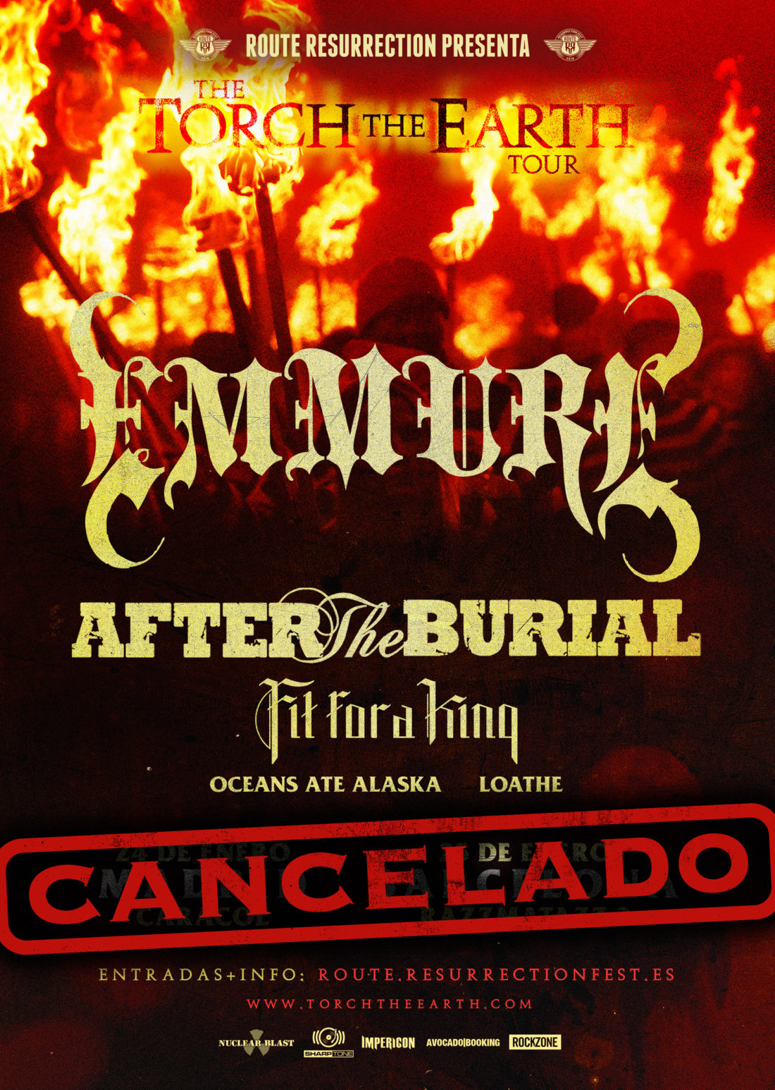 Emmure – After The Burial (cancelado)