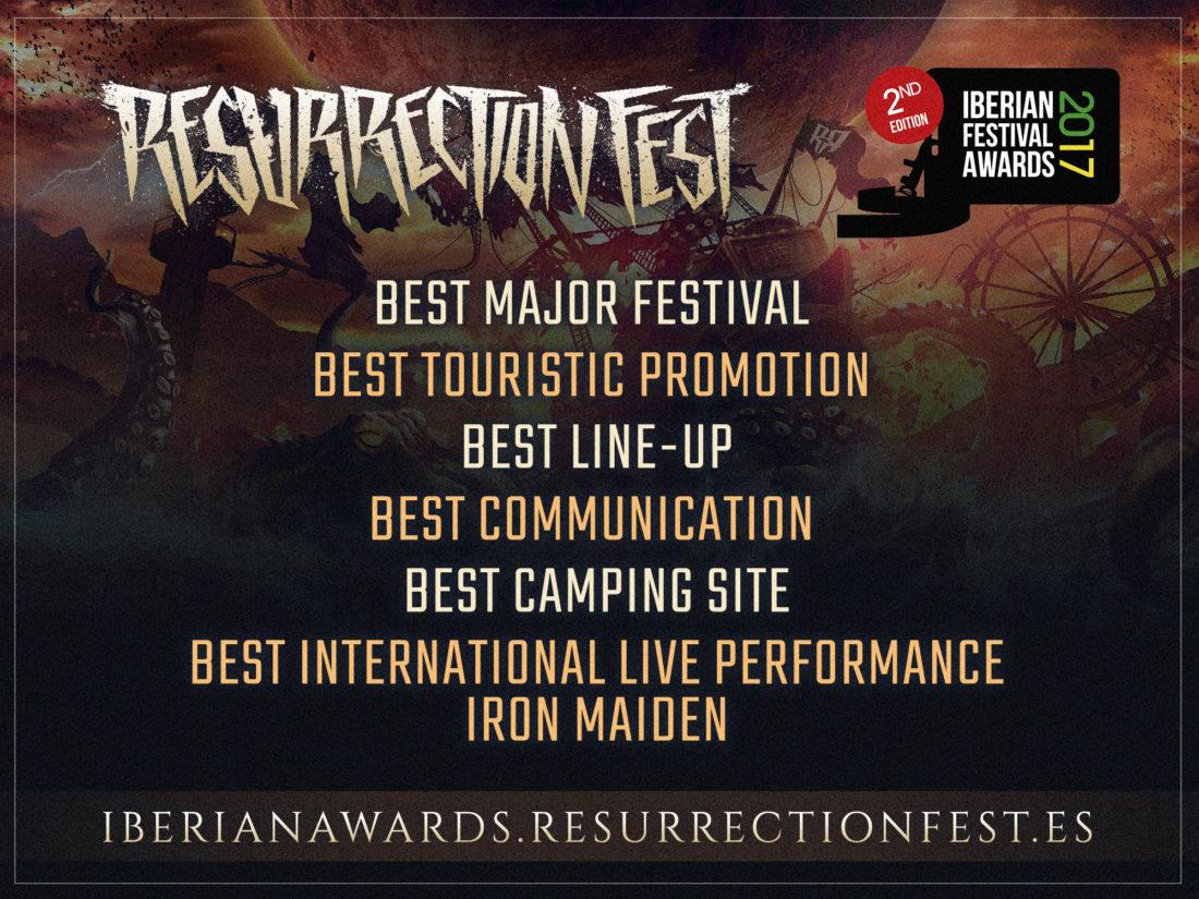 Resurrection Fest nominado en 6 categorías de los Iberian Festival Awards