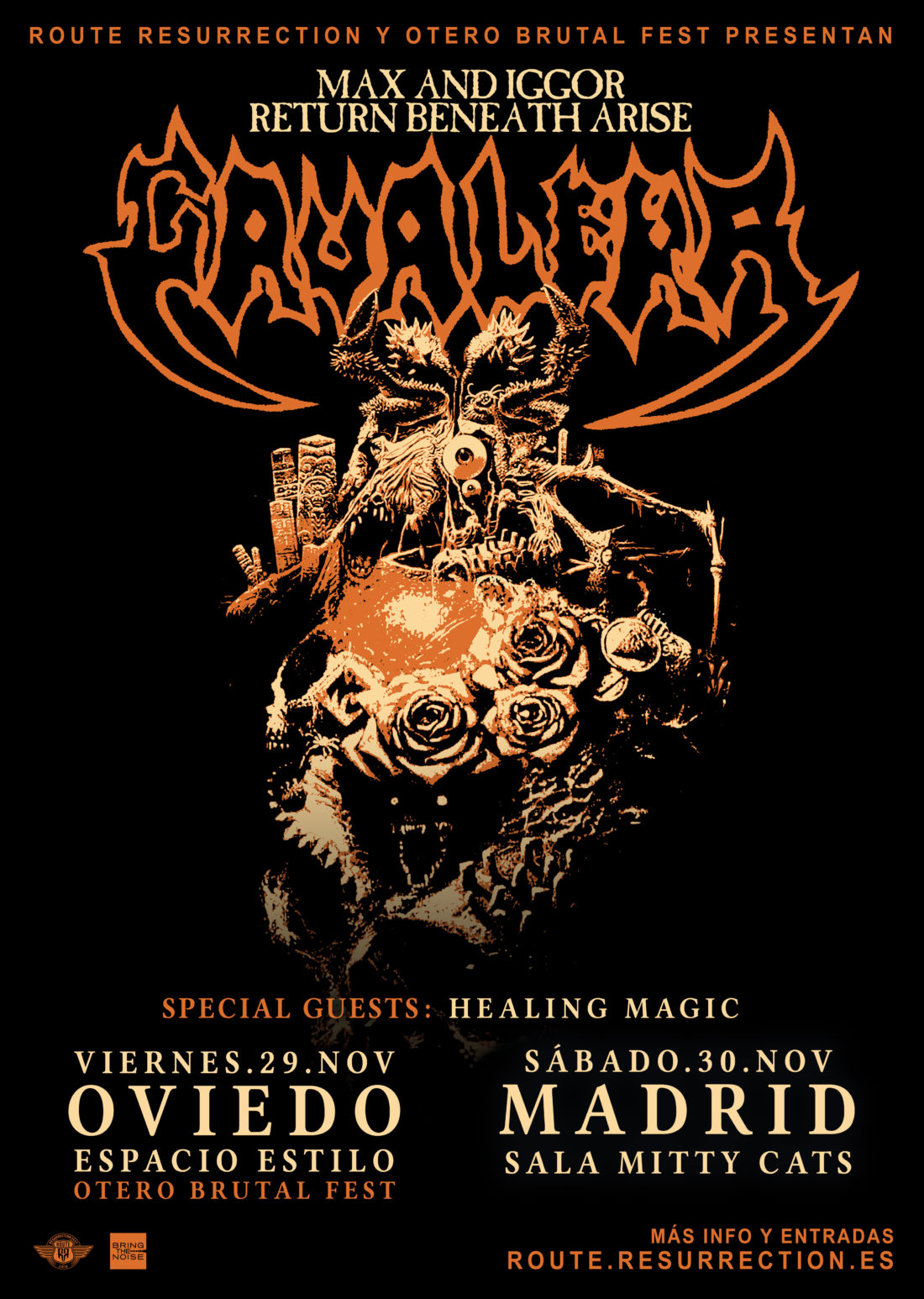 "Nueva gira Route Resurrection: Max & Iggor Cavalera presentan ""Return Beneath Arise"""