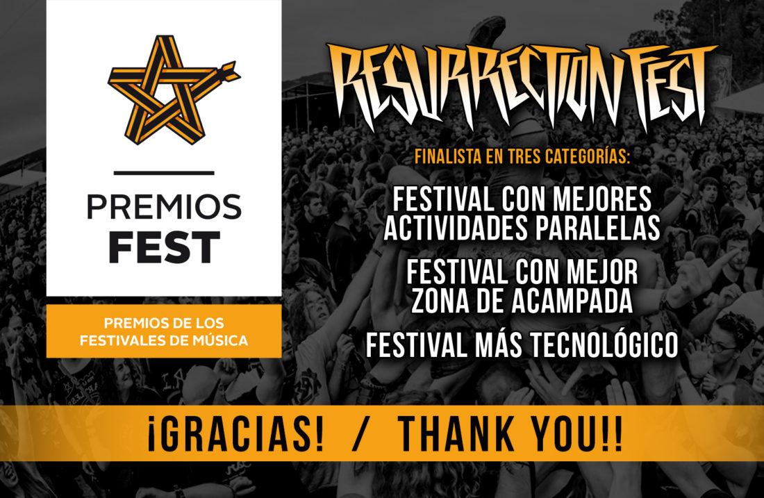 Resurrection Fest, finalista en 3 categorías de los Premios Fest 2015
