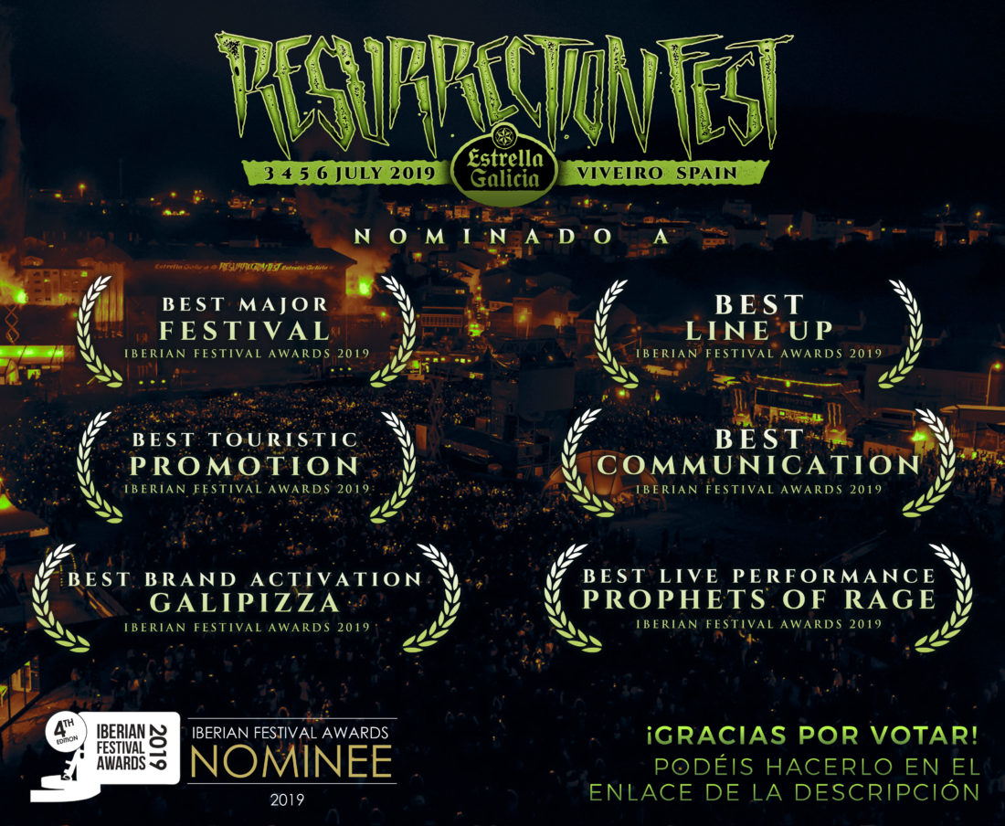 Resurrection Fest Estrella Galicia, nominado en los Iberian Festival Awards 2019