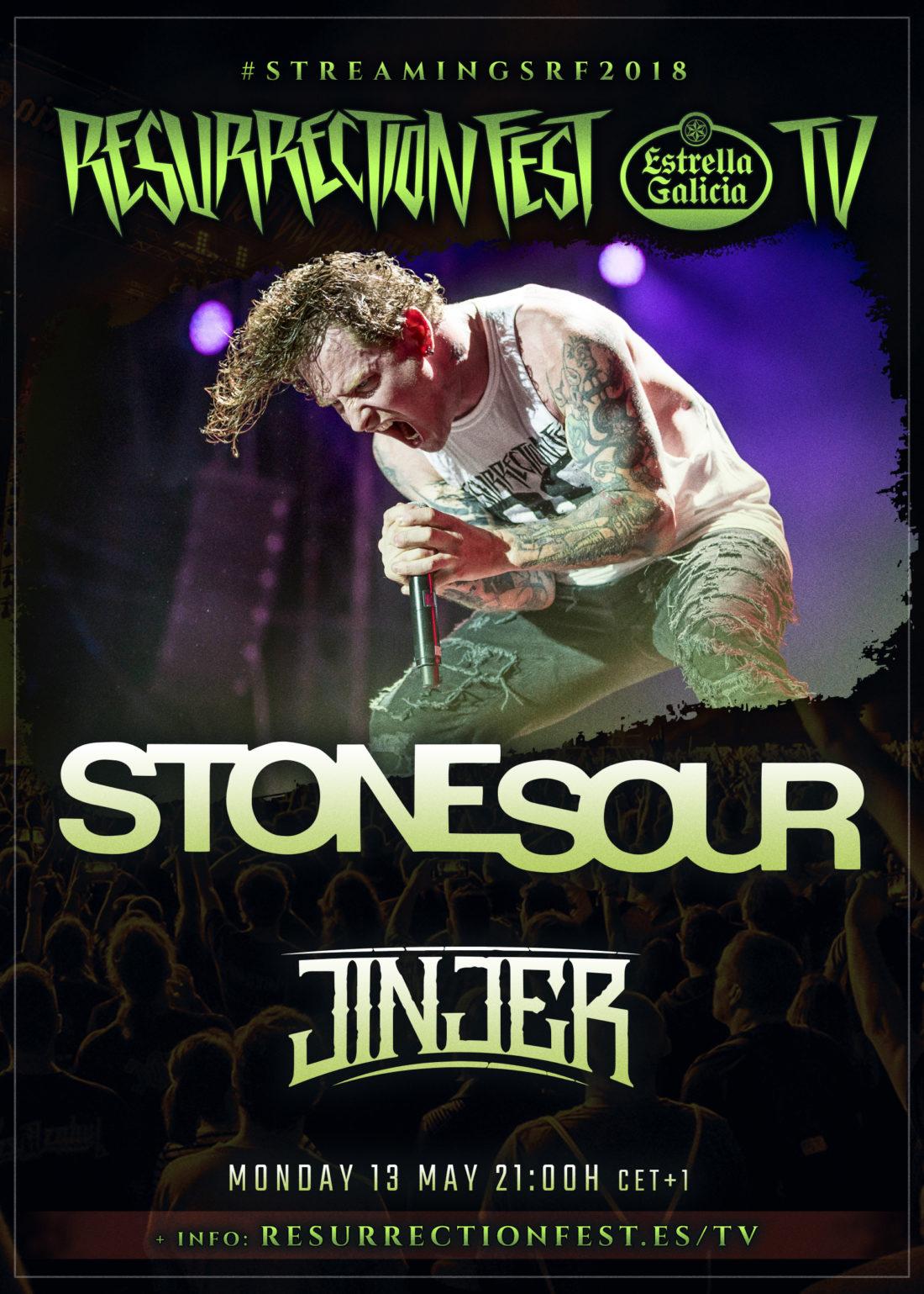 Conciertos en streaming del Resurrection Fest EG 2018: Stone Sour y Jinjer