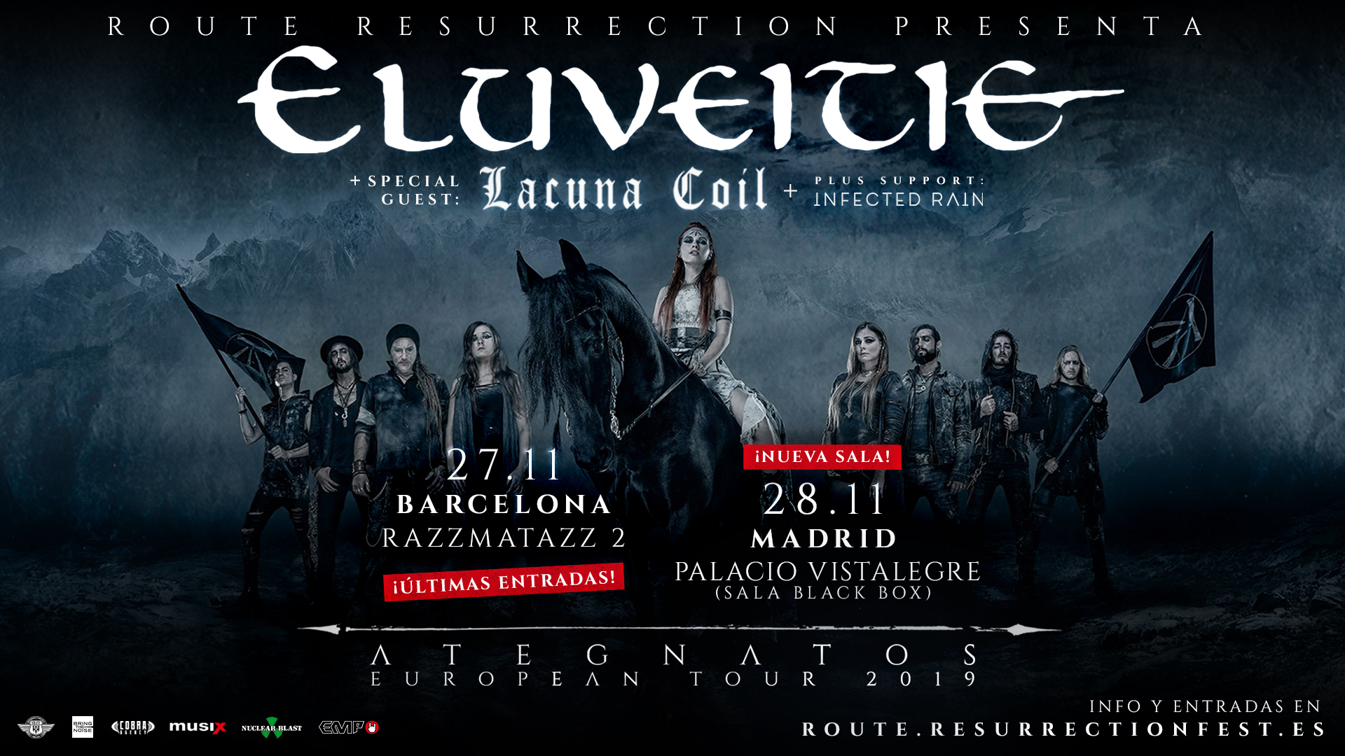 Route Resurrection Fest 2019 - Eluveitie - Lacuna Coil - Event