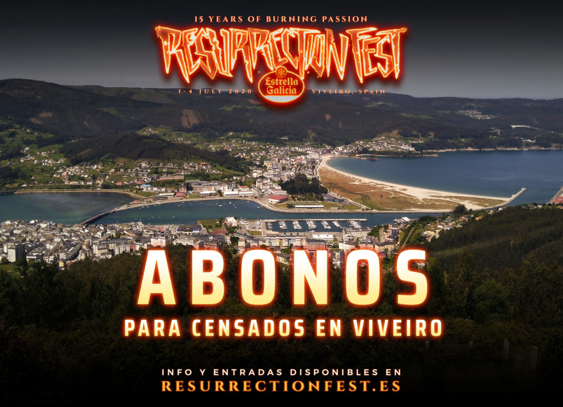 Entradas con descuento disponibles para los censados en Viveiro para el Resurrection Fest Estrella Galicia 2020