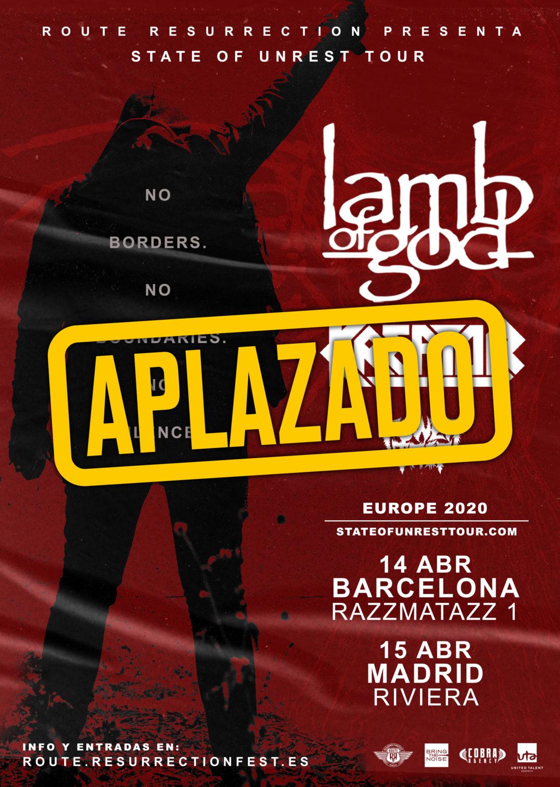 Lamb of God + Kreator