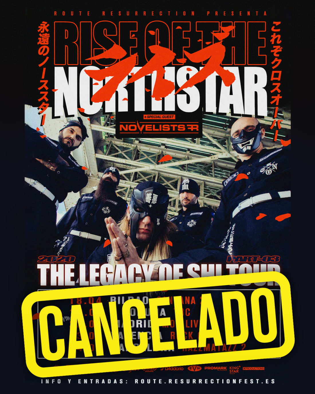 Cancelada la gira de Rise of the Northstar