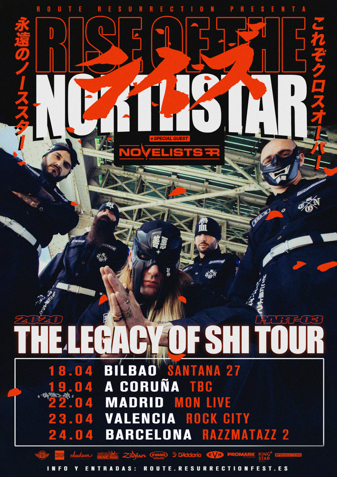 "Nueva gira Route Resurrection: Rise of the Nortthstar vuelven a España para presentar su último disco ""The Legacy Of Shi»"