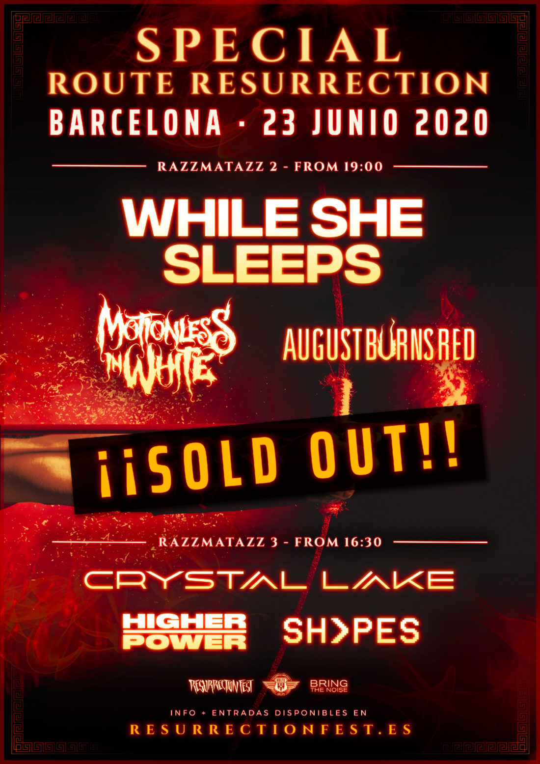 Special Route Resurrection: While She Sleeps + Motionless In White + August Burns Red + Crystal Lake + Higher Power + Shvpes
