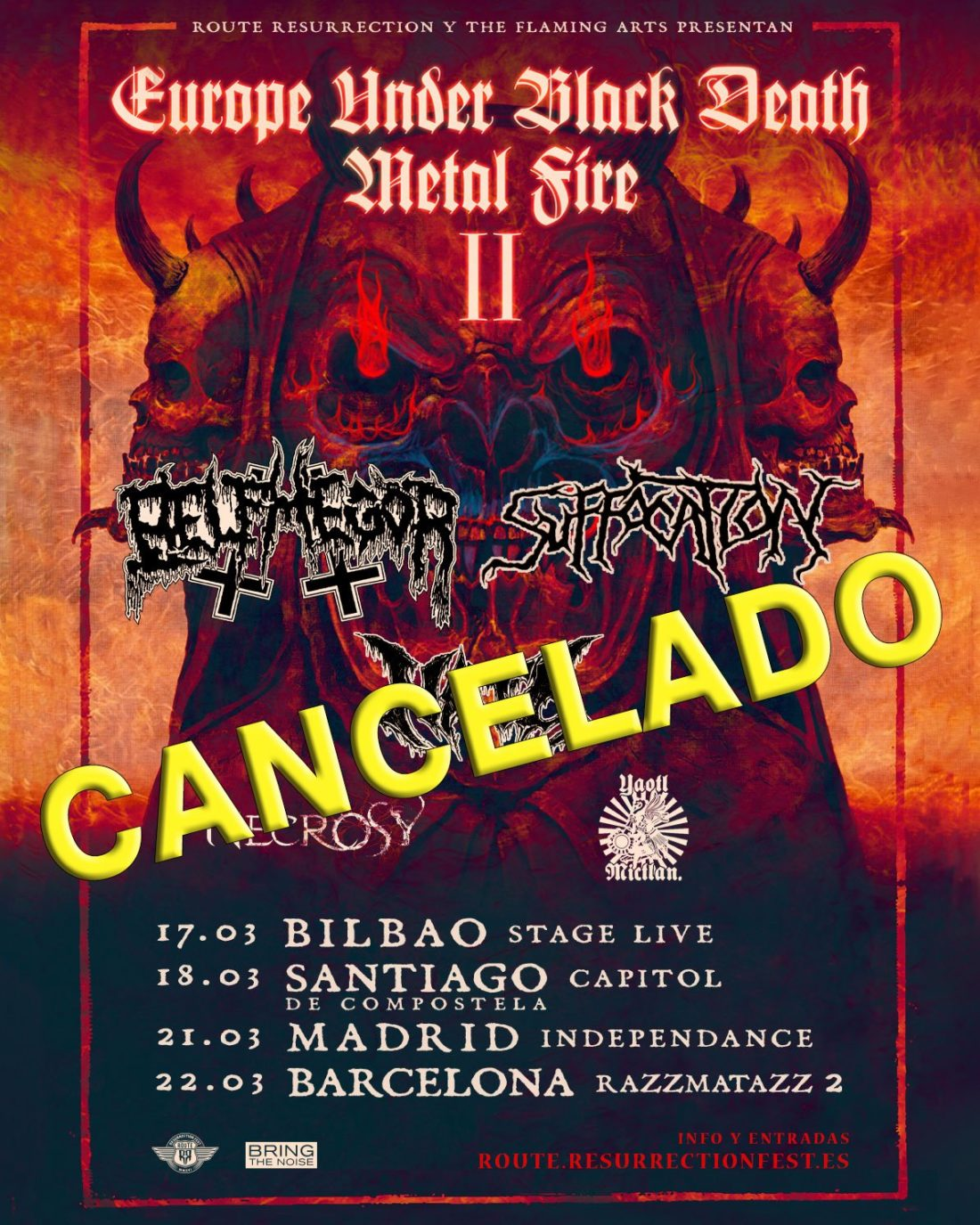 Suffocation + Belphegor (Europe Under the Black Death Metal Fire Tour II) (gira cancelada)