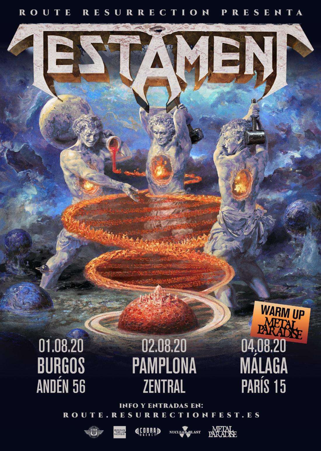Testament vuelve este verano de gira Route Resurrection a presentar su nuevo disco