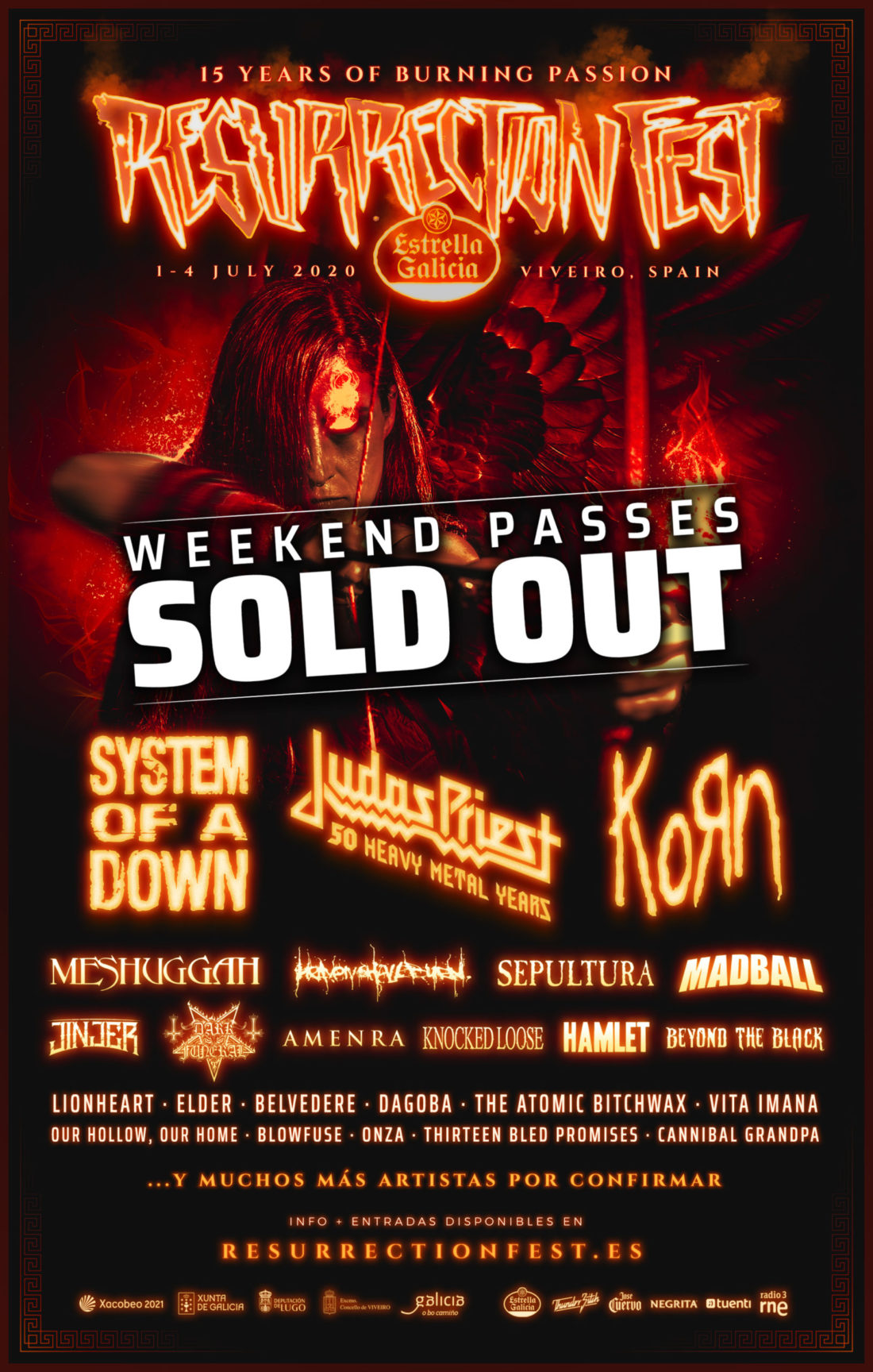 RESURRECTION FEST ESTRELLA GALICIA 2020 IS NOW SOLD-OUT, THANK YOU VERY MUCH!