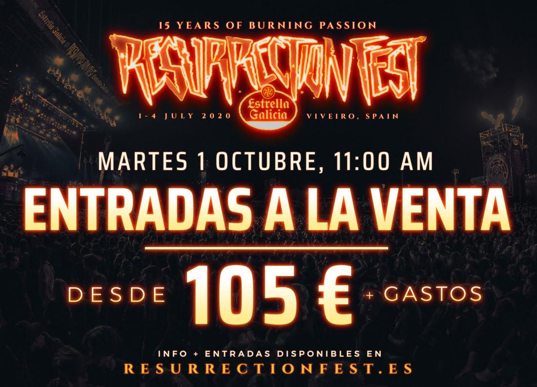Información sobre la venta de entradas del Resurrection Fest Estrella Galicia 2020