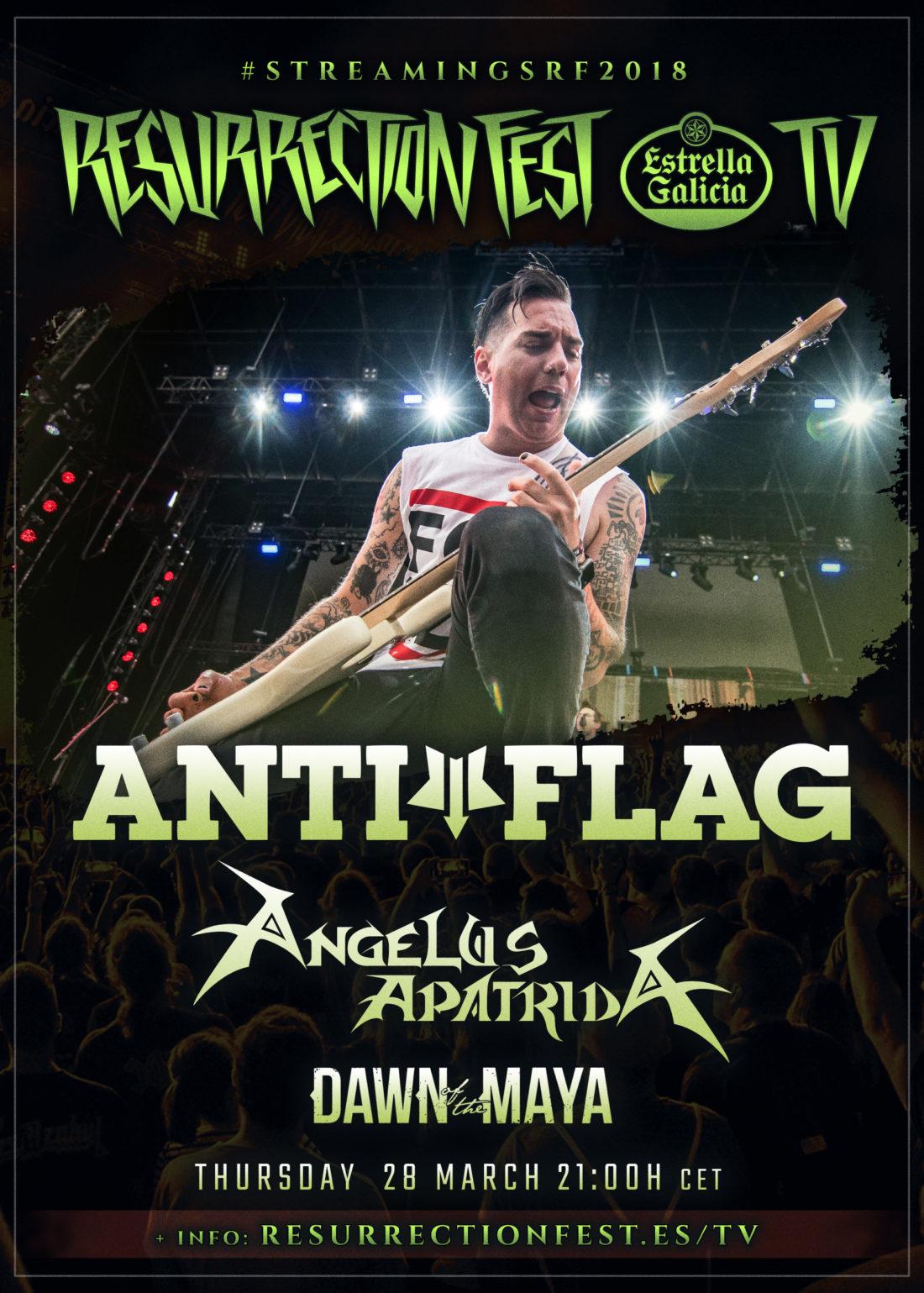 Nuevos conciertos en streaming del Resurrection Fest EG 2018: Anti-Flag, Angelus Apatrida y Dawn Of The Maya
