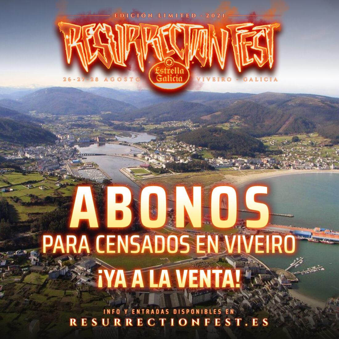 Entradas para los censados en Viveiro para el Resurrection Fest Estrella Galicia Limited 2021