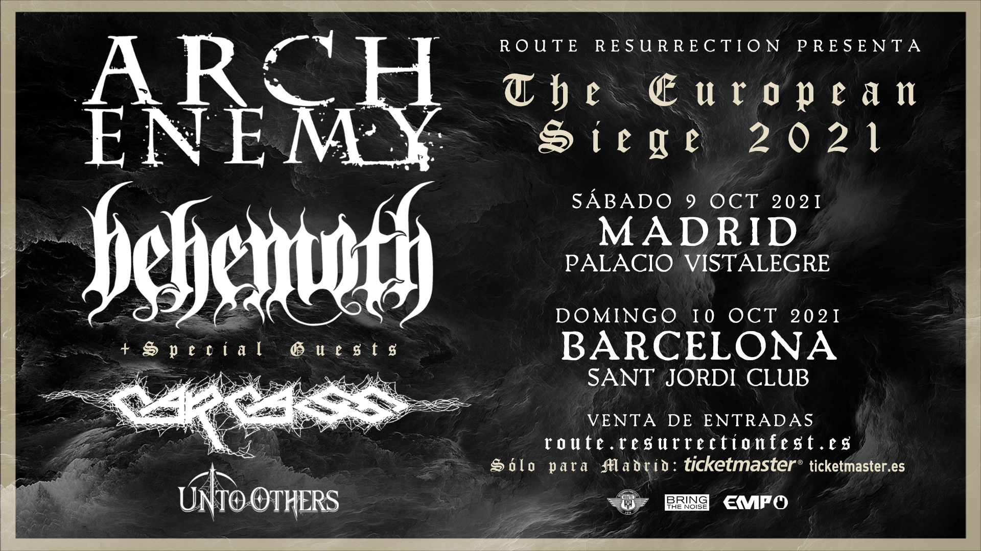 Route Resurrection Fest 2021 - ARCH ENEMY y BEHEMOTH con CARCASS - Event