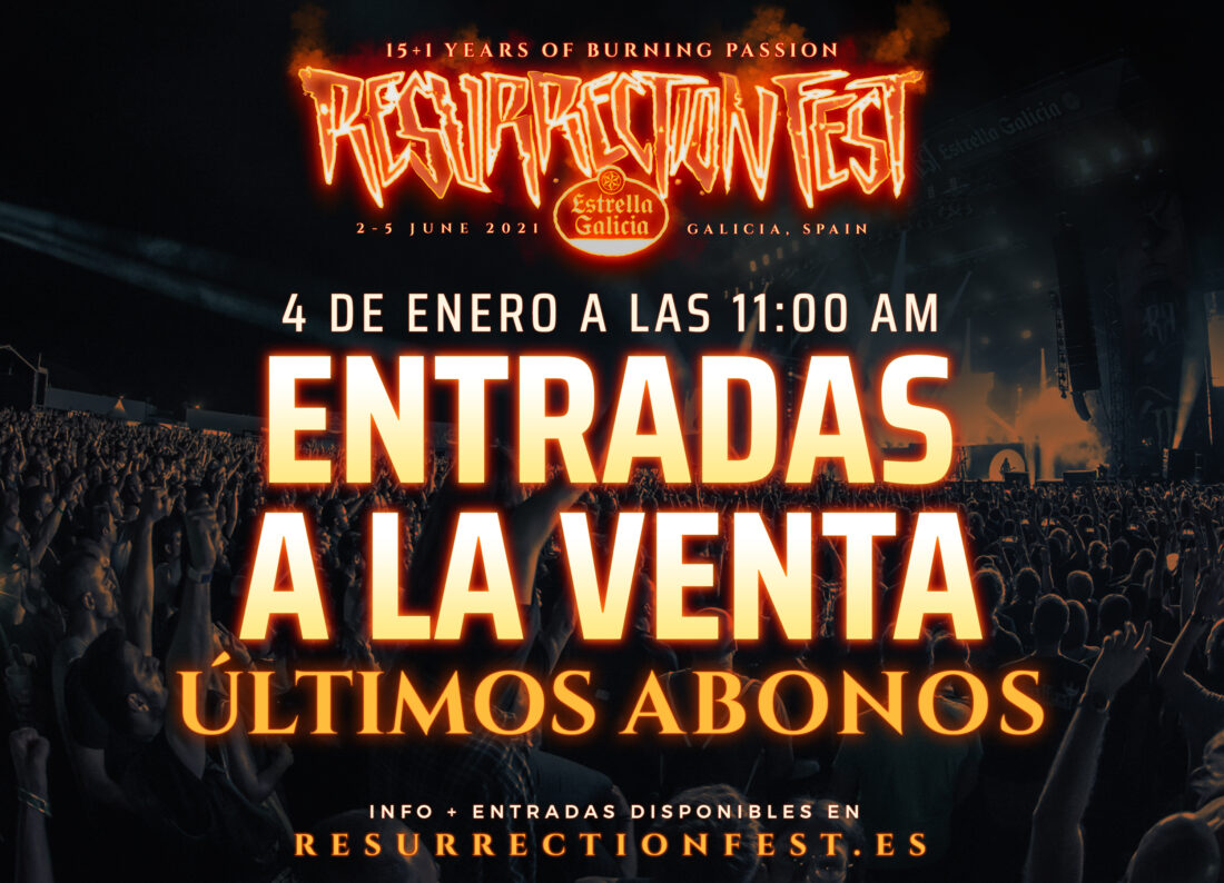 Resurrection Fest Estrella Galicia 2021: últimas entradas a la venta el lunes 4 de enero