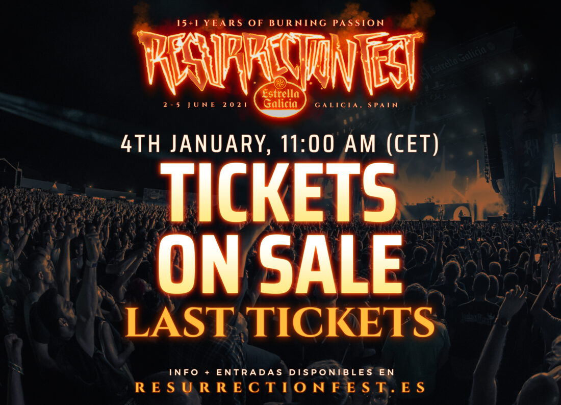 Resurrection Fest Estrella Galicia 2021: last tickets on sale on Monday 4th January