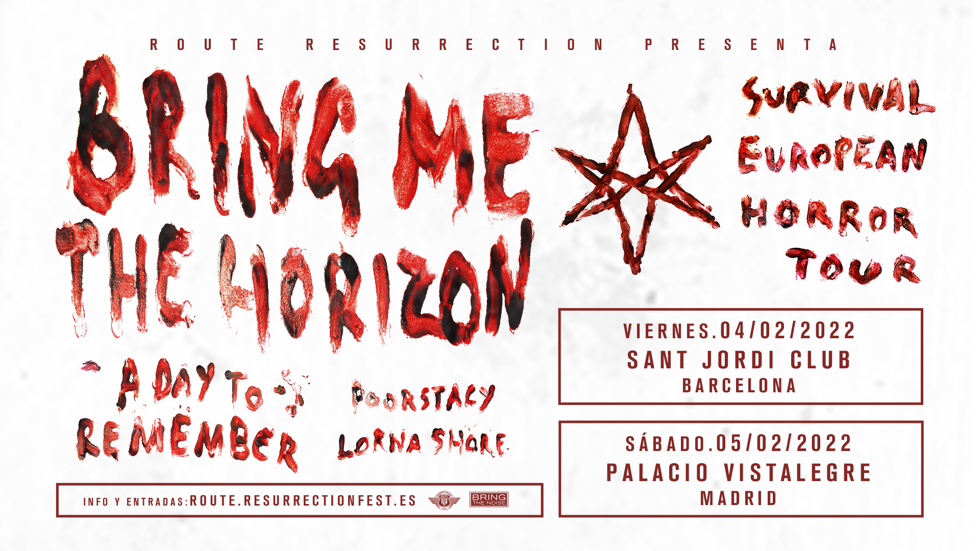 Route Resurrection Fest 2022 - Bring Me The Horizon con A Day to Remember