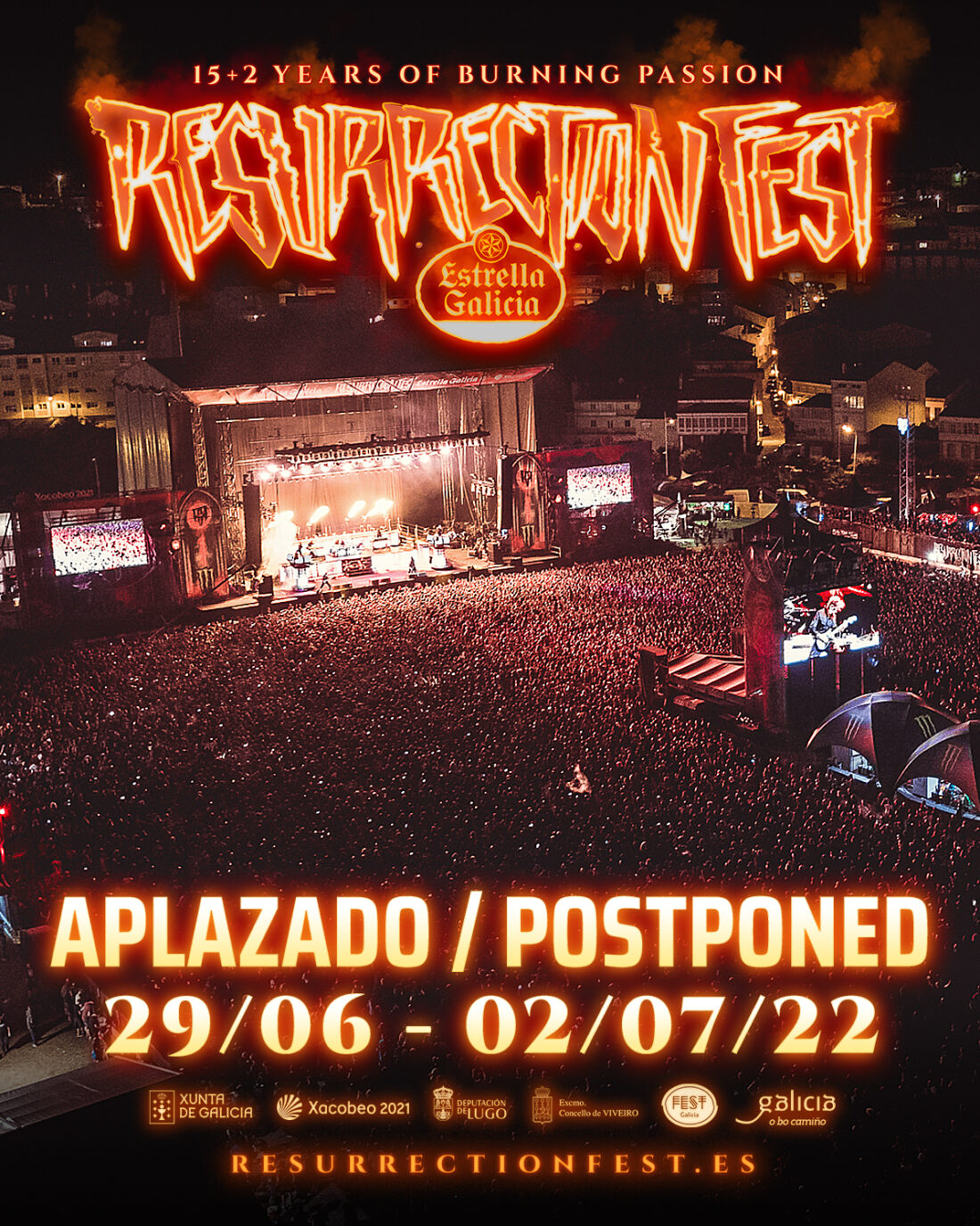 Official statement: Resurrection Fest Estrella Galicia is postponed to 2022