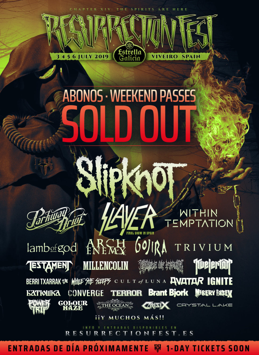 Resurrection Fest Estrella Galicia 2019: all the weekend passes are now sold out, thank you all!