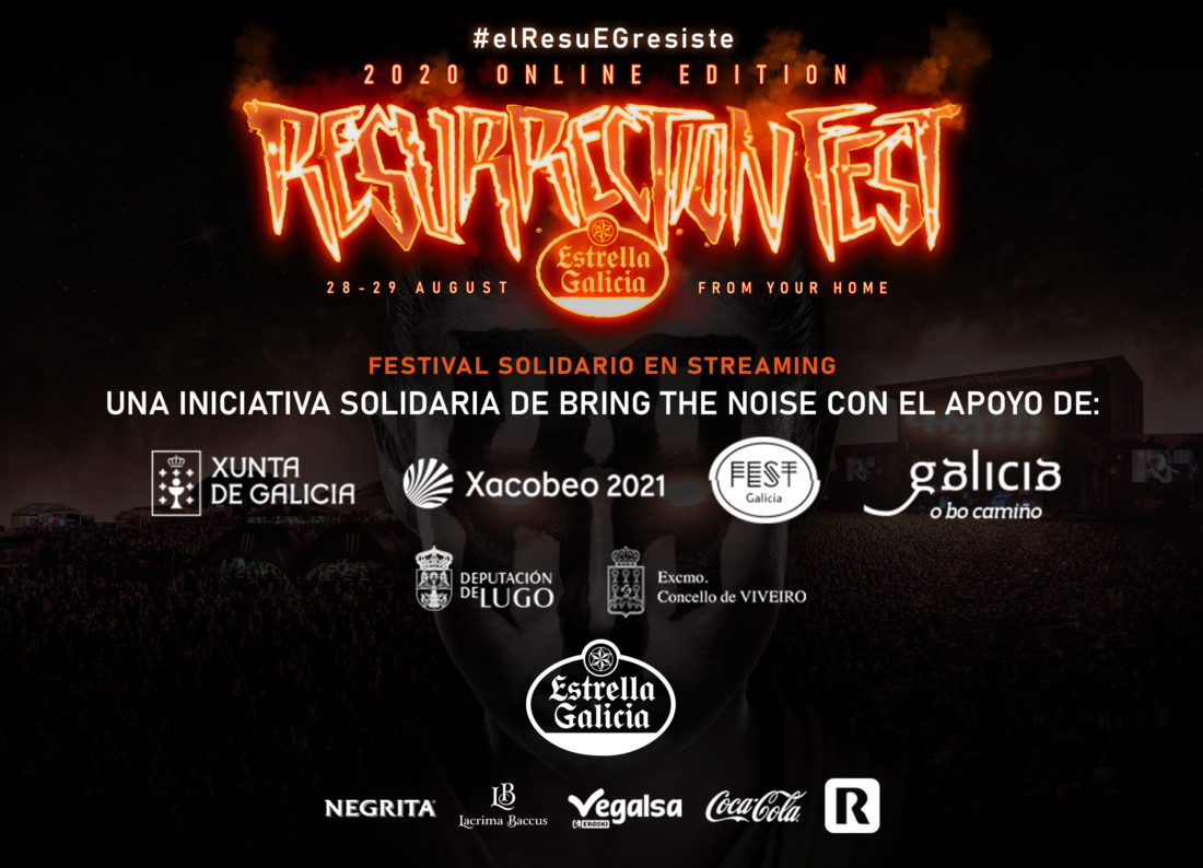 #elresuEGresiste: Resurrection Fest Estrella Galicia Online, un festival solidario en streaming