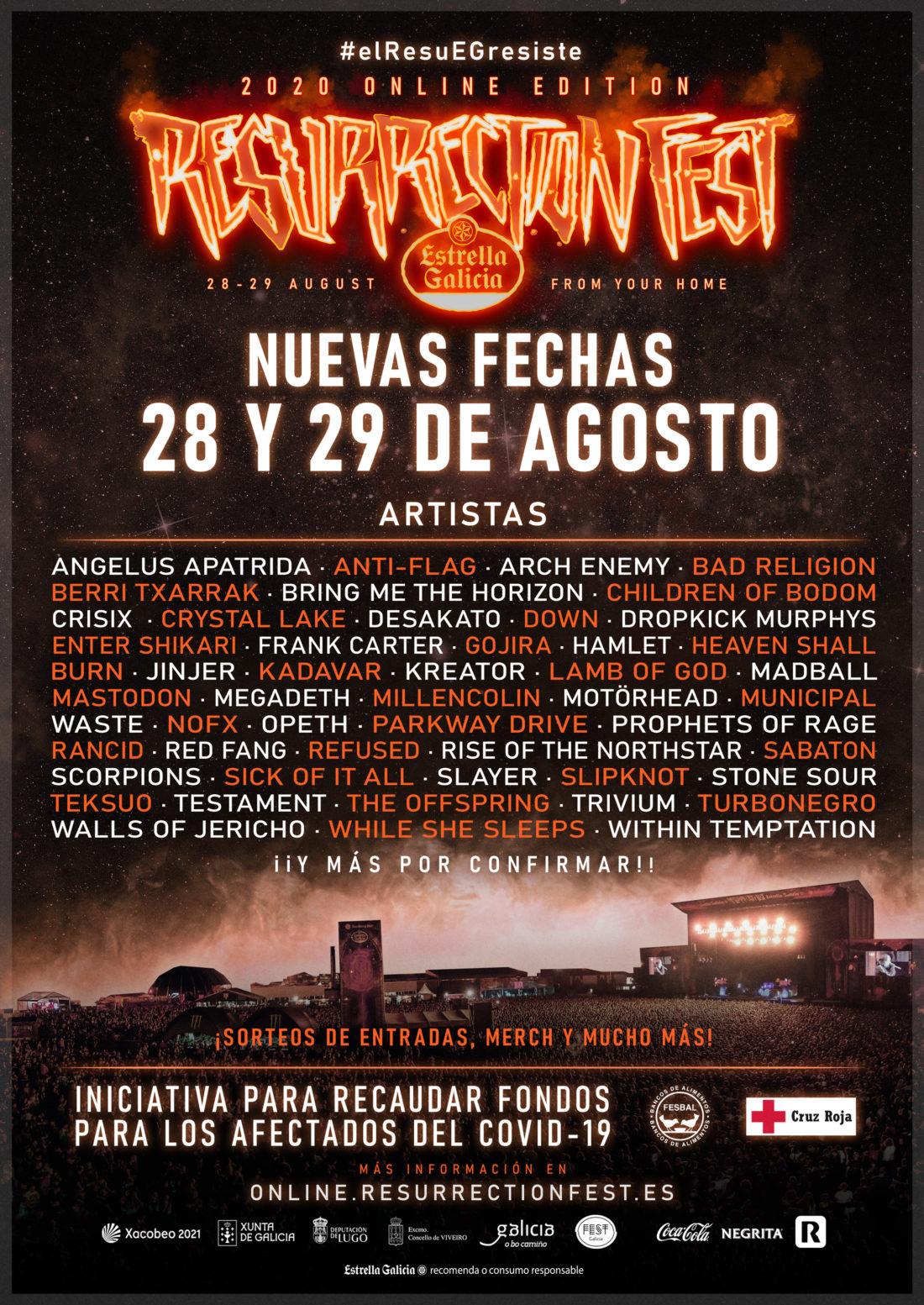 El Resurrection Fest Estrella Galicia Online se pospone al 28 y 29 de agosto