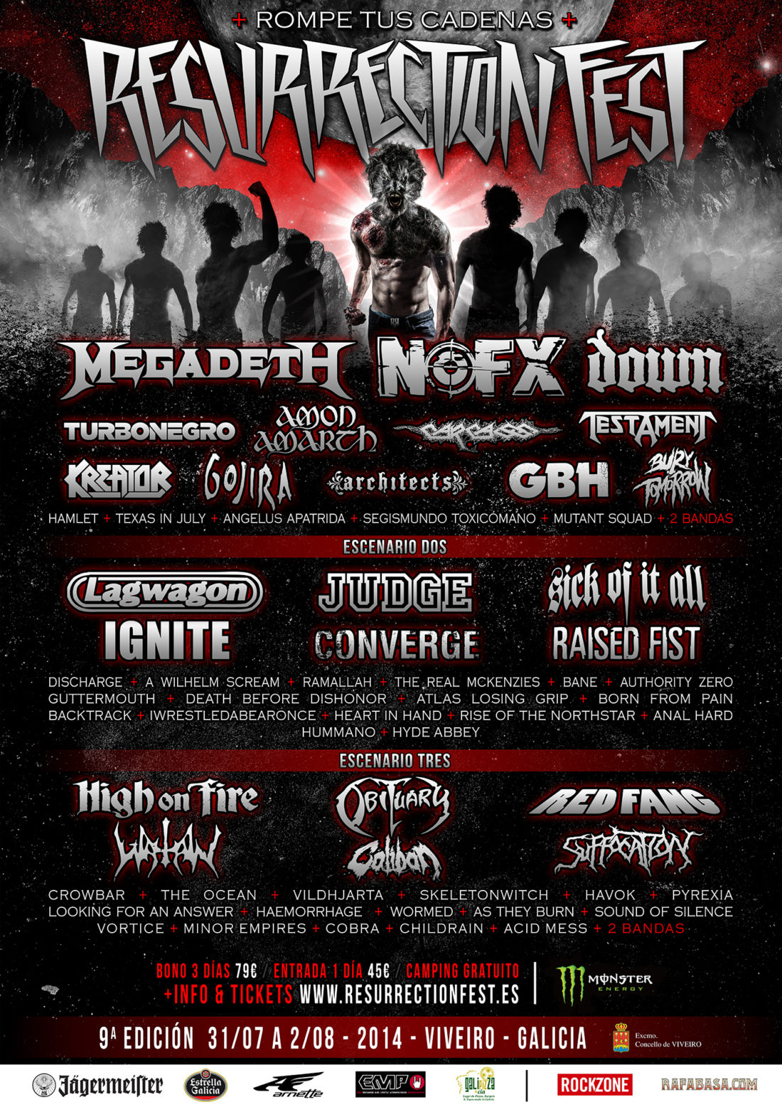 Resurrection Fest 2014: Megadeth, nuevo cabeza de cartel