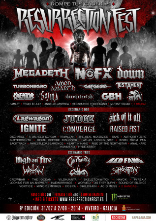 Cartel del Resurrection Fest 2014