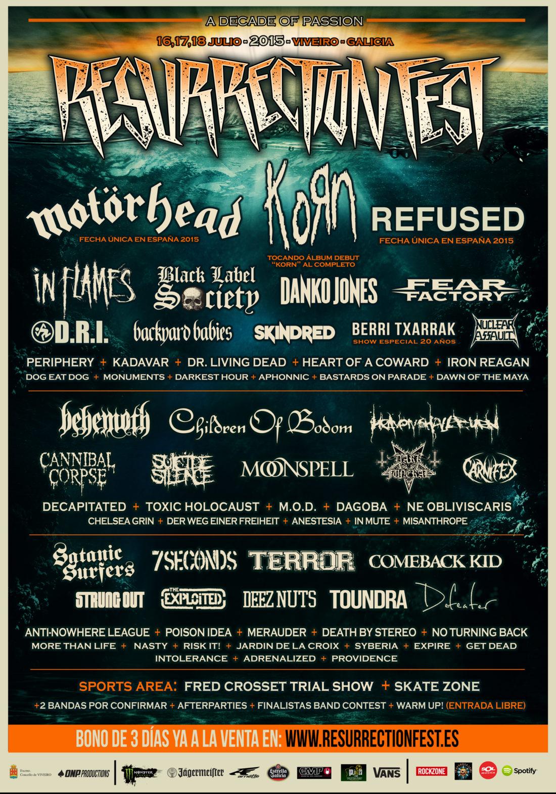 Resurrection Fest 2015 Poster 3 ESP