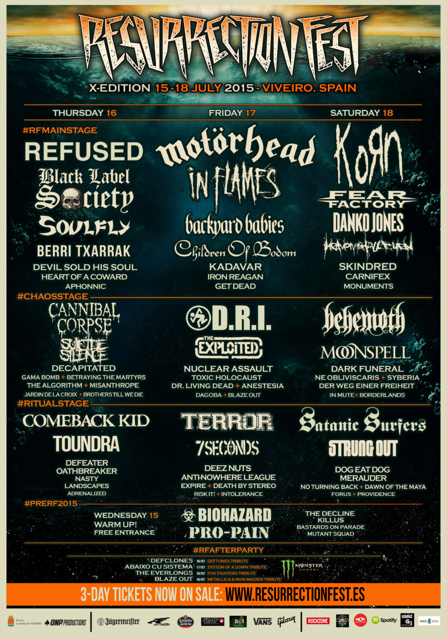 Rock The Coast Festival el nuevo festival de Madness Live!!! Horns Sun Beach Resurrection-Fest-2015-Poster-5-ENG-HD-900x1286