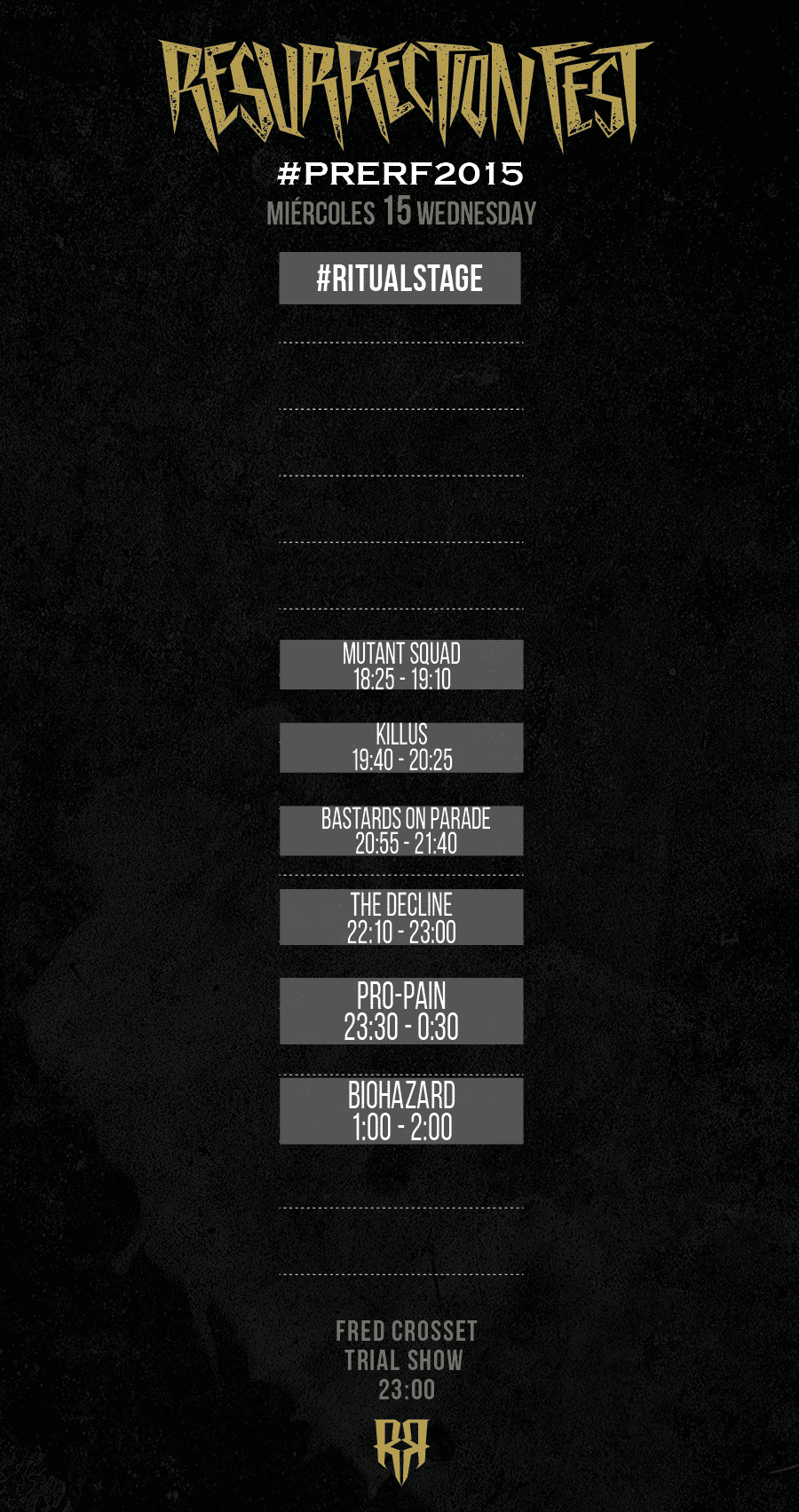 Resurrection Fest 2015 - Running Order - 15