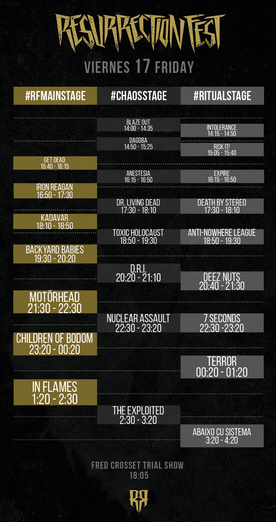 Resurrection Fest 2015 - Running Order - 17
