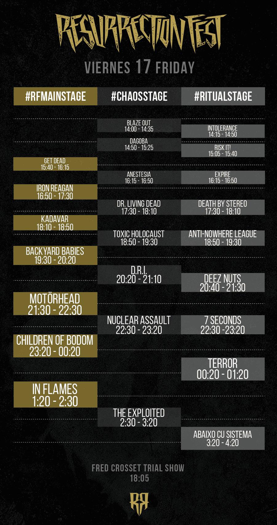 Resurrection Fest 2015 - Running Order - 17