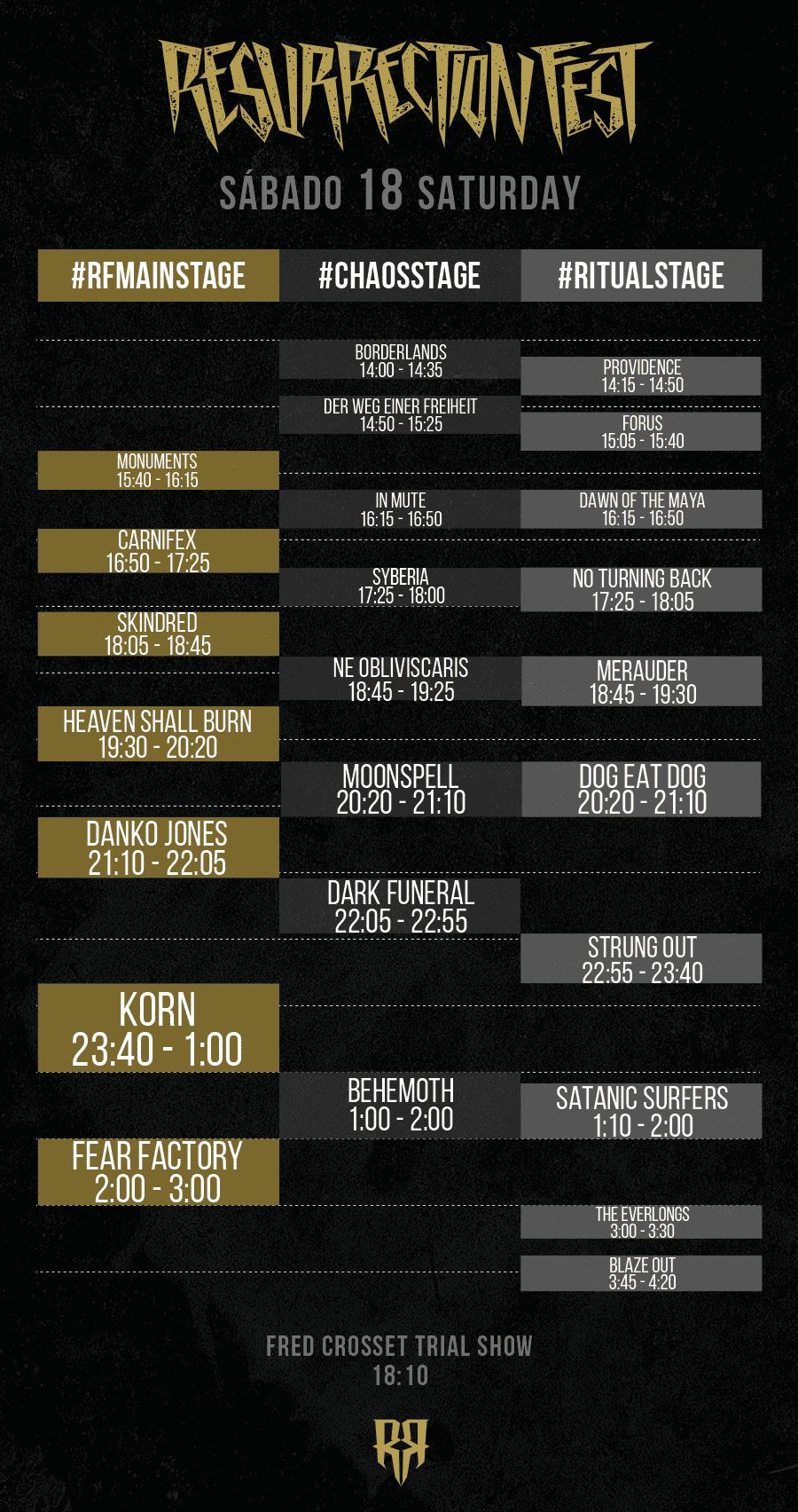 Resurrection Fest 2015 - Running Order - 18