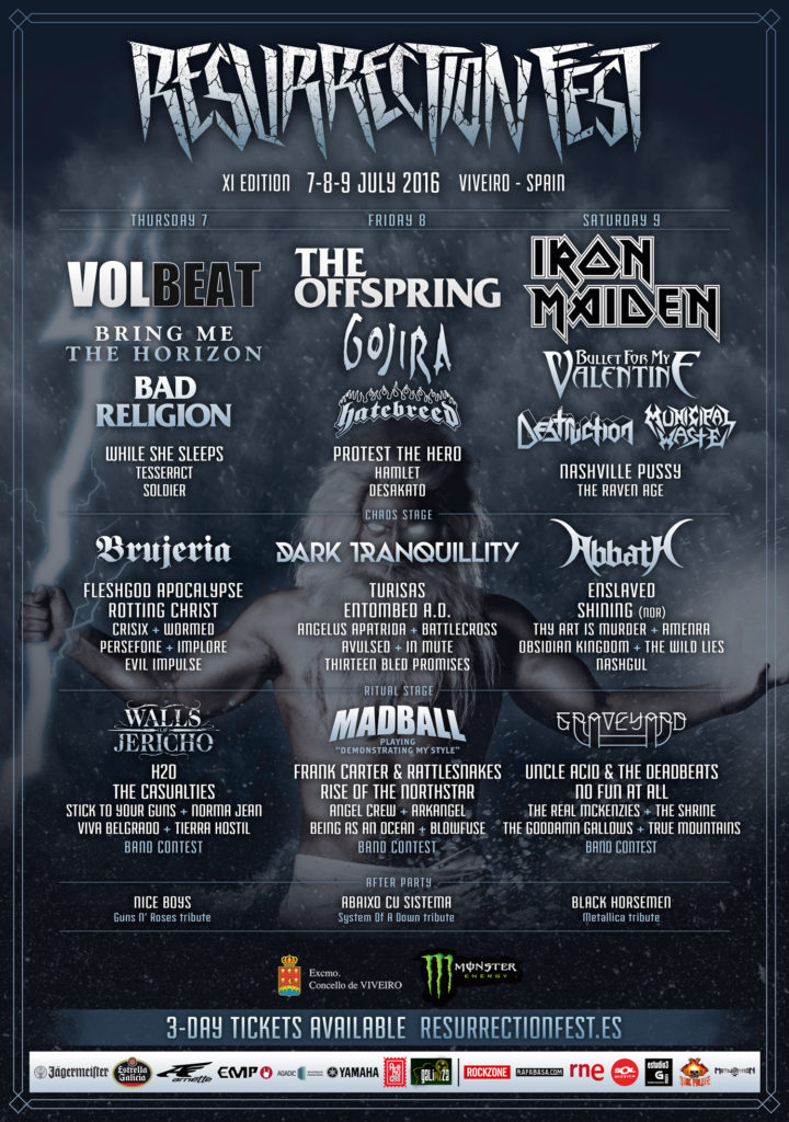 Resurrection Fest 2016 - Poster 4 - Split by days - ENG