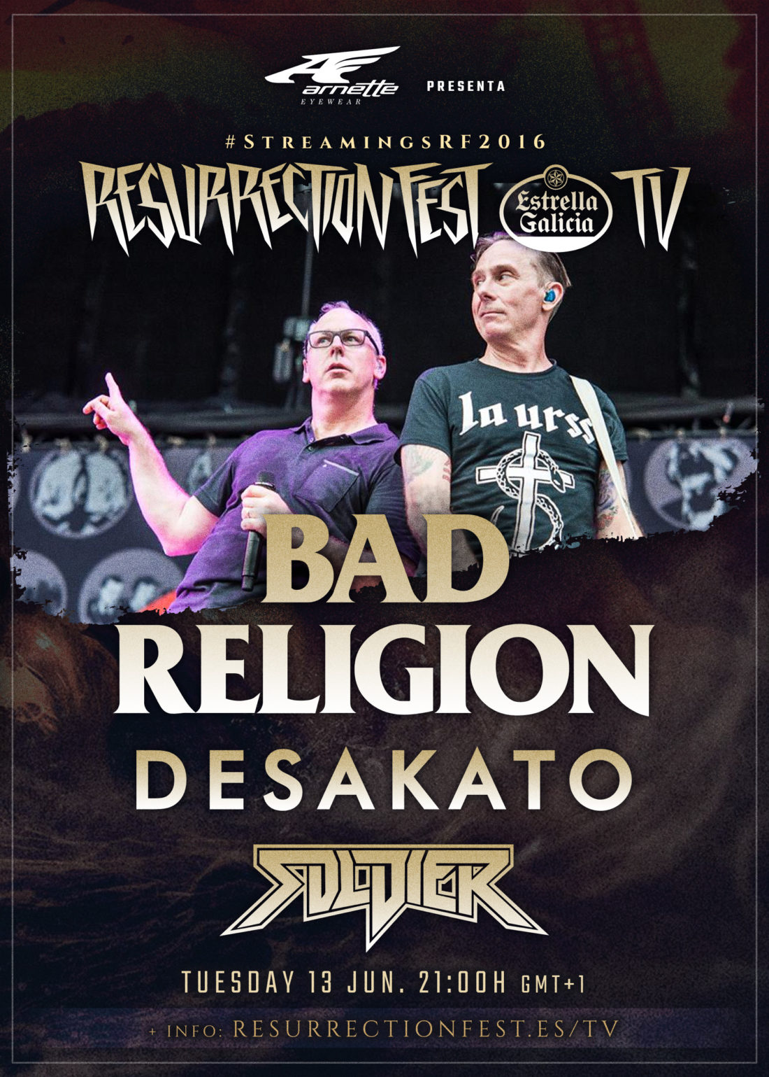 Últimos conciertos en streaming en nuestra Resurrection Fest TV: Bad Religion, Desakato y Soldier