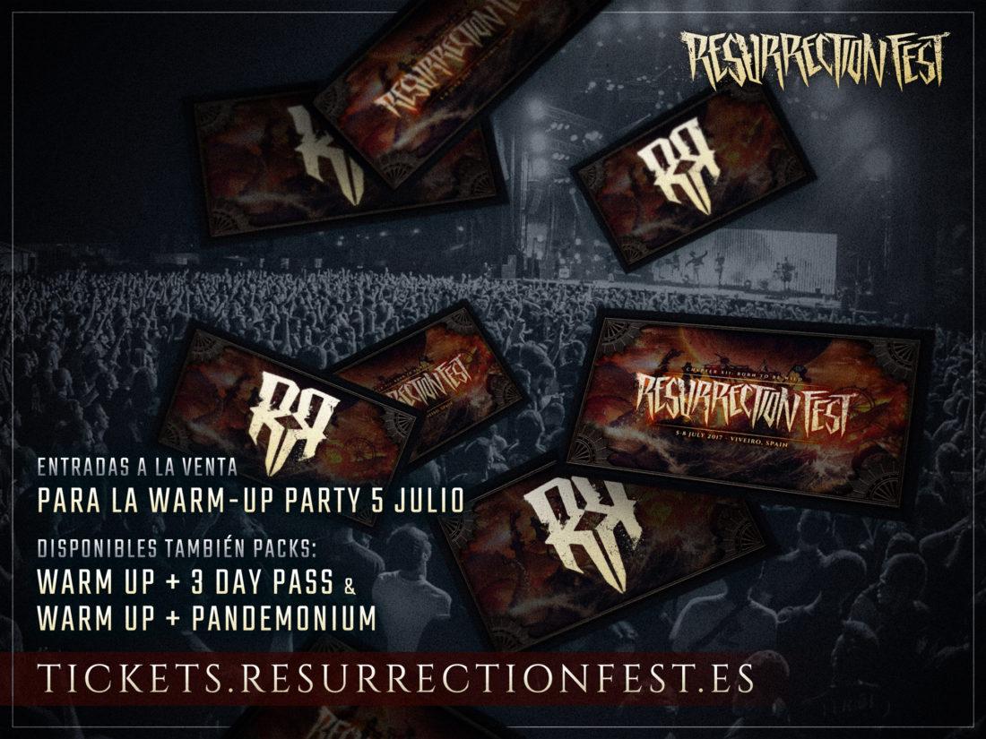 Entradas para la Warm-Up Party (fiesta de bienvenida) del Resurrection Fest 2017 a la venta