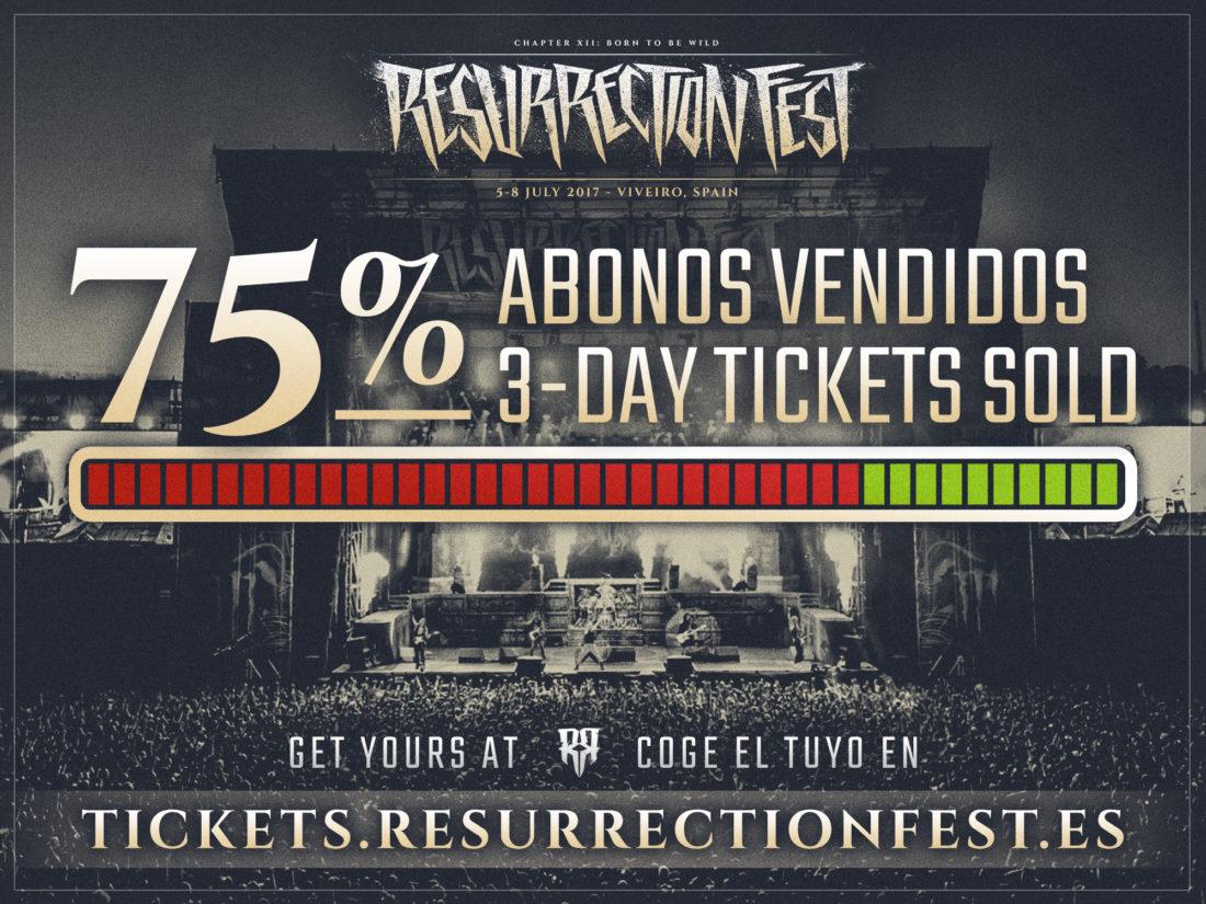 75% de abonos vendidos para el Resurrection Fest 2017