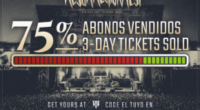 75% of 3-day tickets already sold out