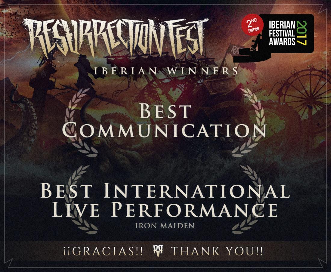 Resurrection Fest, doble ganador peninsular en los Iberian Festival Awards 2017, incluido el premio a la Mejor Comunicación
