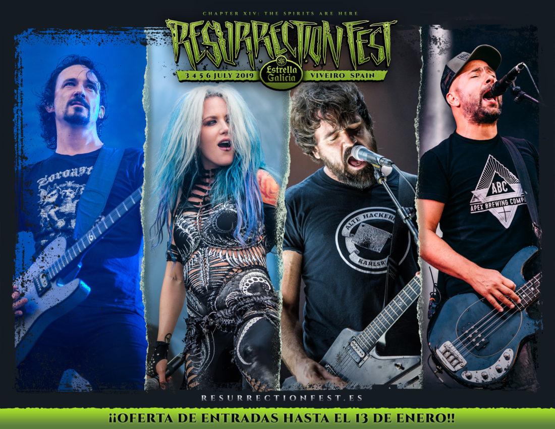 Resurrection Fest Estrella Galicia 2019. Gojira, Arch Enemy, Millencolin y Berri Txarrak entre otros se unen al cartel