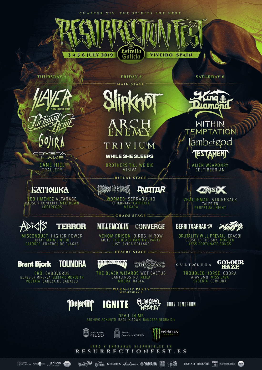 Resurrection Fest Lineup