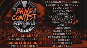 Finalists of Resurrection Fest Band Contest 2017