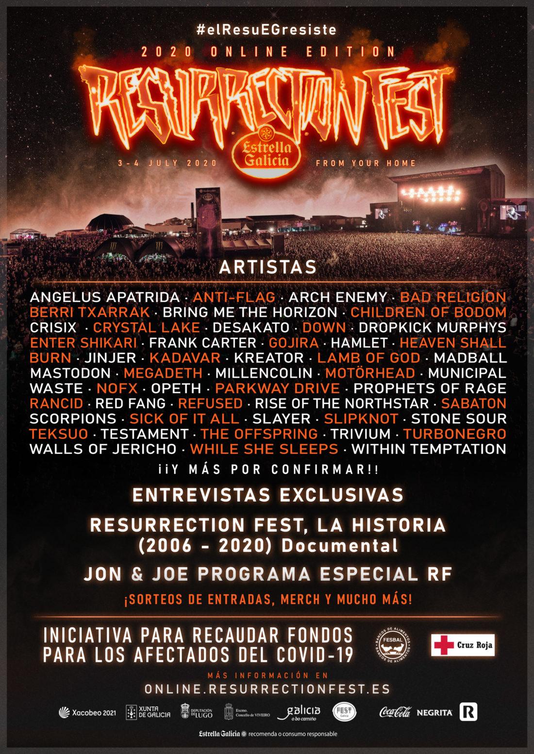 Programación del Resurrection Fest Estrella Galicia Online