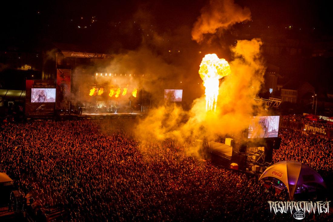 Rammstein hace arder Viveiro y el Resurrection Fest con un espectáculo musical sin igual