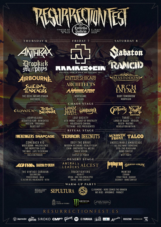 Resurrection Fest Lineup