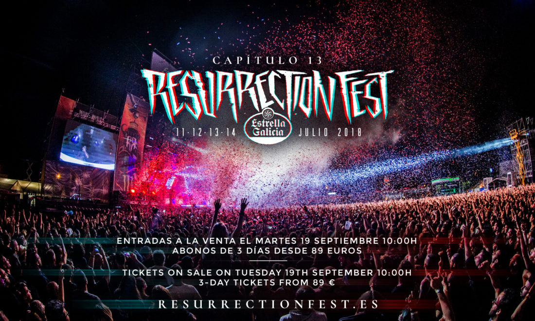Early-bird tickets for Resurrection Fest Estrella Galicia 2018 on sale next Tuesday