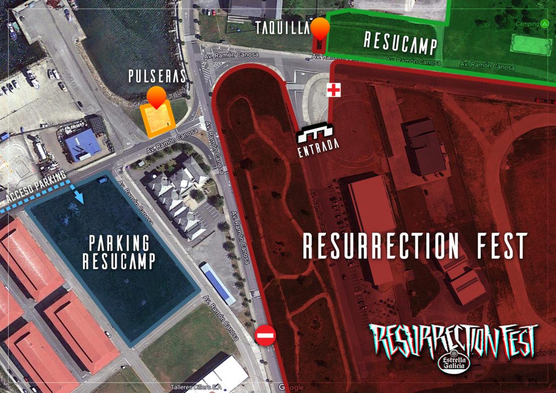 Información sobre pulseras y taquilla para el Resurrection Fest 2018