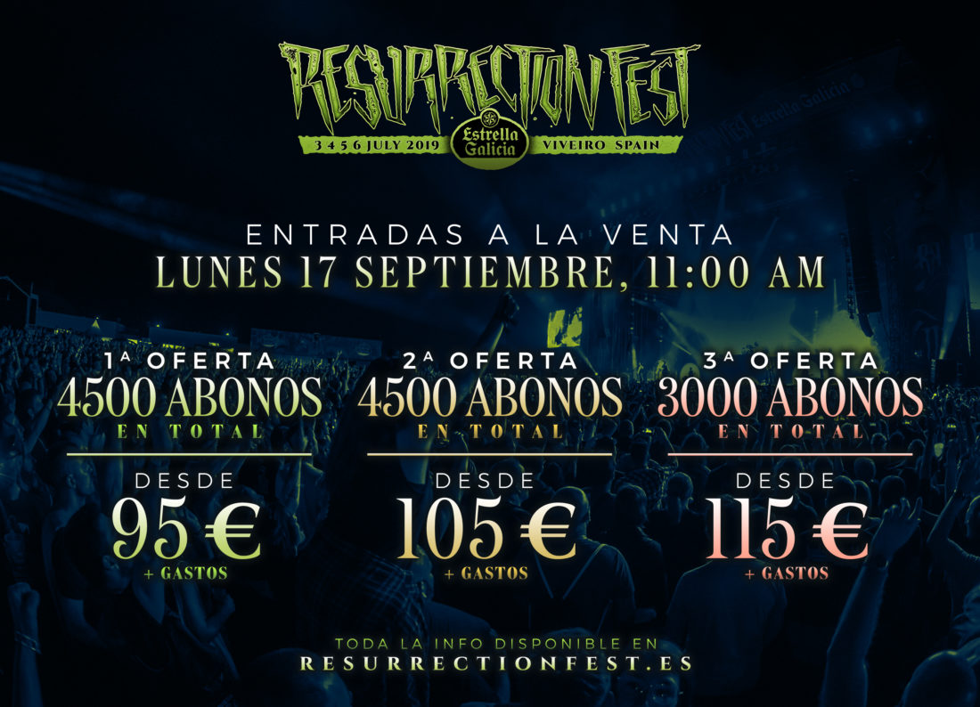 Tickets on sale for Resurrection Fest Estrella Galicia 2019 next Monday