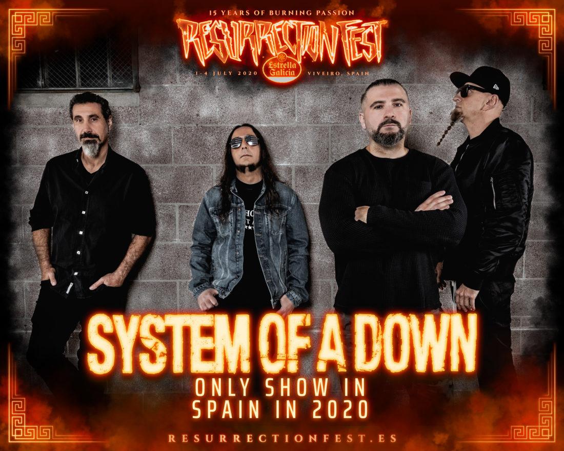 Boom! System of a Down will headline Resurrection Fest Estrella Galicia 2020